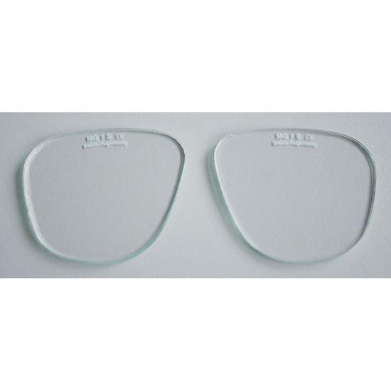 Brillengläser oval, farblos