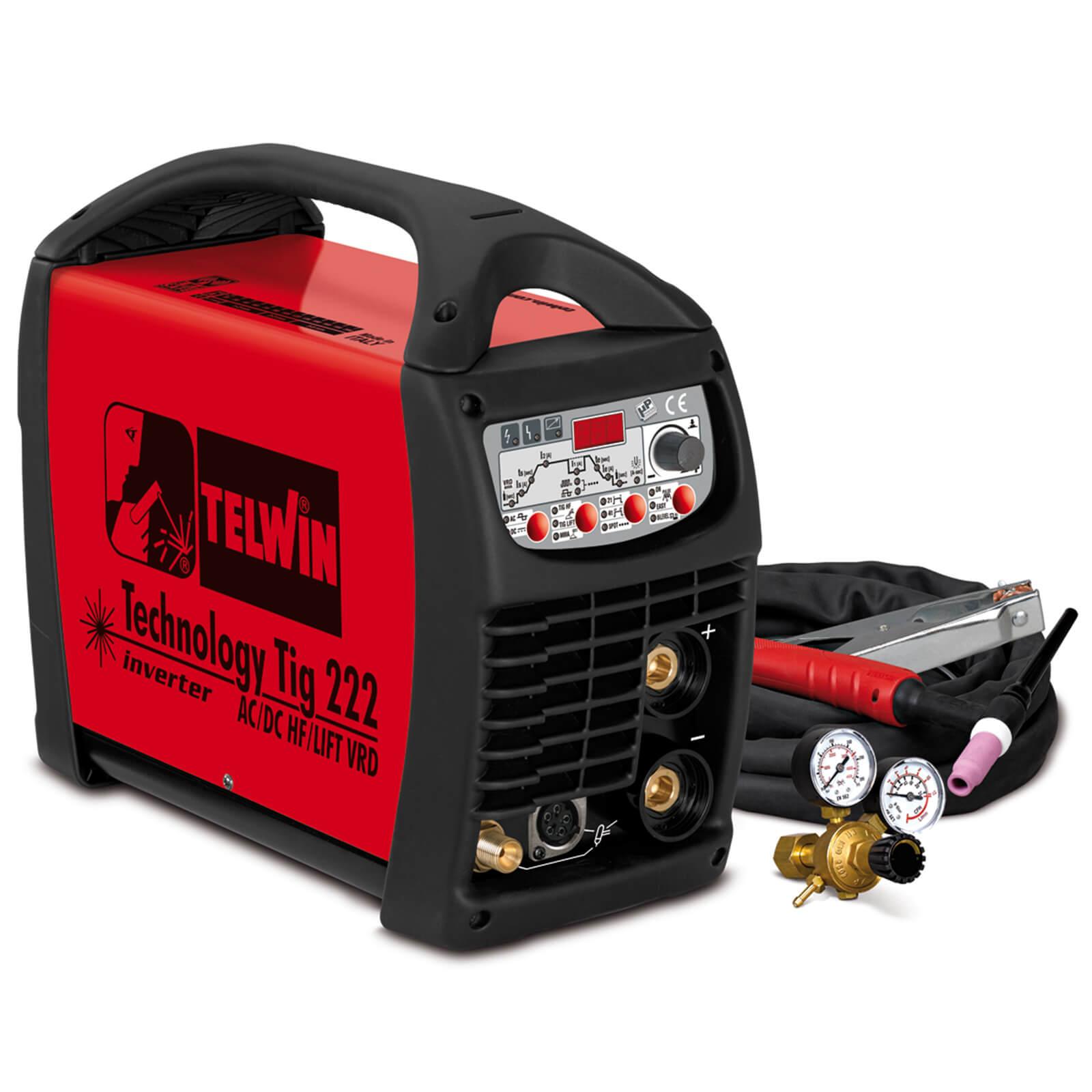 TELWIN Technology Tig 222 AC/DC-HF/Lift VRD Schweißgerät Inverter incl. Zubehör