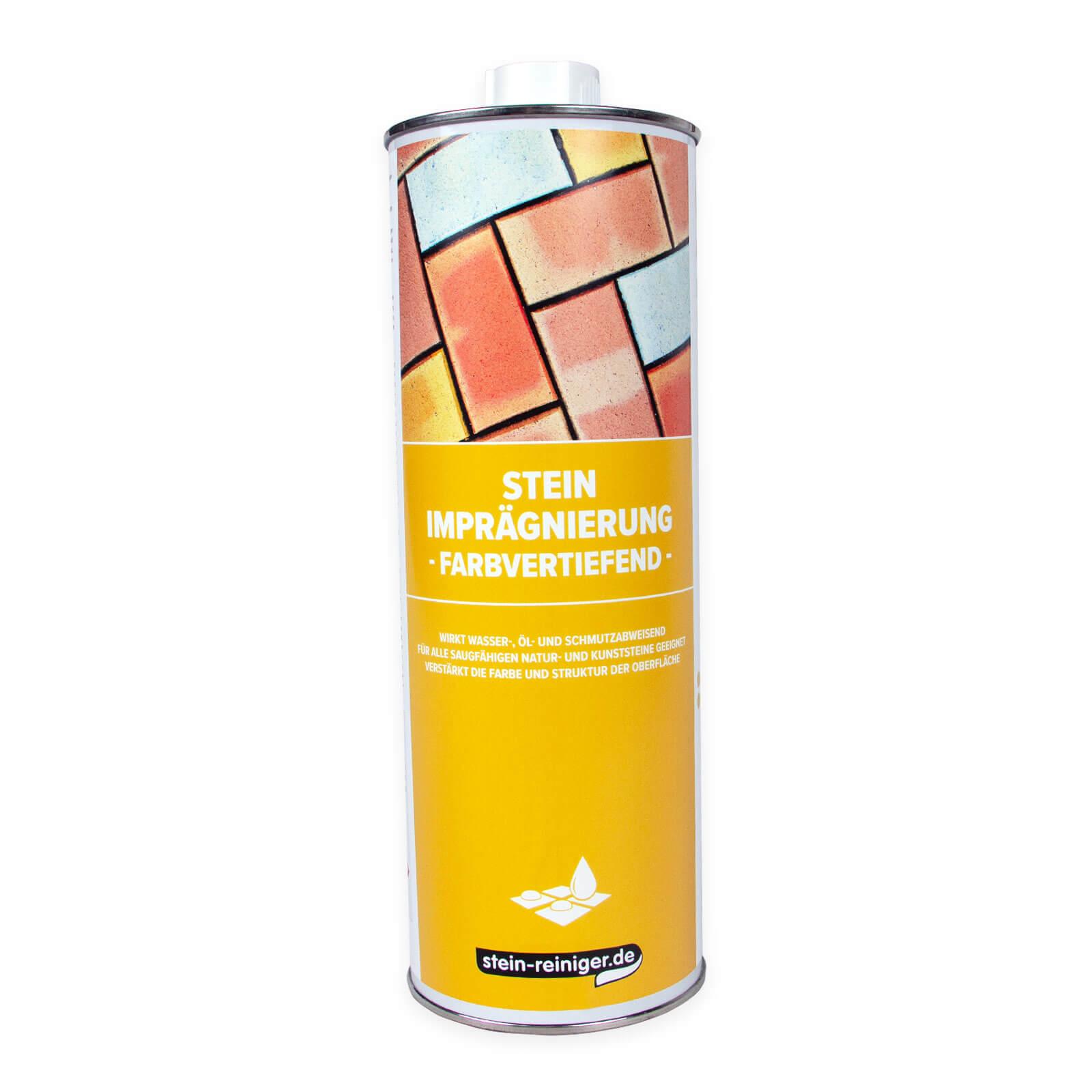 stein-reiniger.de: Stein Imprägnierung farbvertiefend 1 L - Für alle saugfähigen Natur- und Kunststeine geeignet