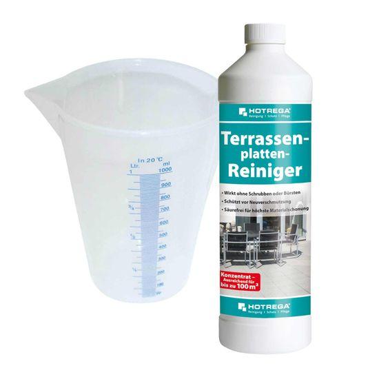 Terrassenplatten-Reiniger 1 L, Messbecher 1 L SET