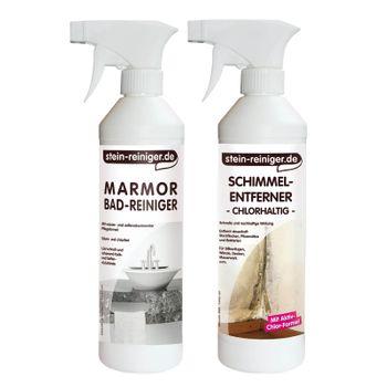 Marmor Bad Reiniger Schimmel SET 001