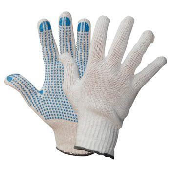 WILPEG Polyester Strickhandschuhe KORL mit PVC Noppen 1