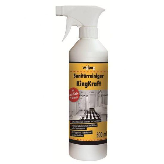 WILPEG Sanitärreiniger KingKraft mit Anti-Kalk-Formel 500 ml