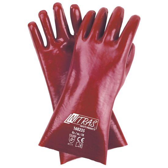 PVC-Handschuhe 160235, vollbeschichtet + feuchtigkeitsabweisend