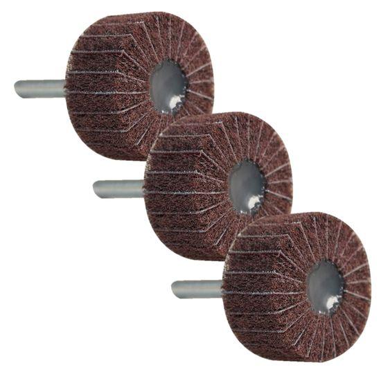 Vlies-Schleiffächer mit Leinen 3 Stück