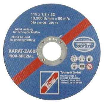 Trennscheibe Karat ZA 60 R INOX Spezial