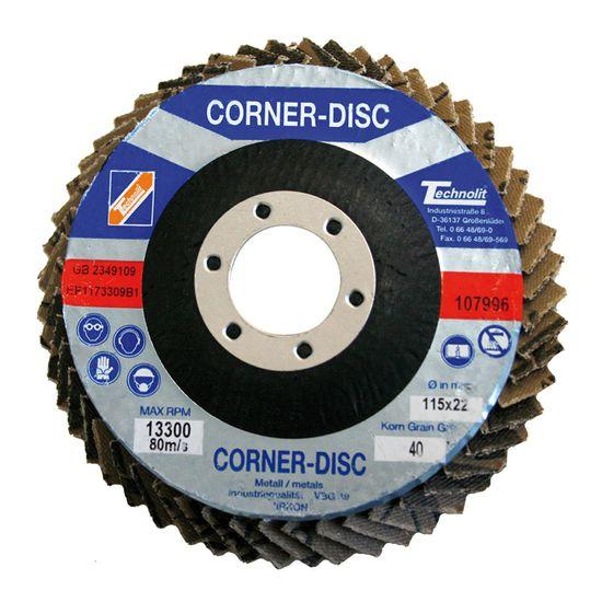 TECHNOLIT Corner-Disc mit Zirkonkorund
