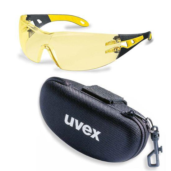 uvex Schutzbrille pheos 9192385 im Set inkl. Brillenetui