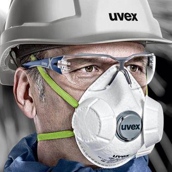 uvex Schutzbrille pheos cx2 9198285 im Set inkl. Brillenetui 6
