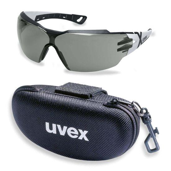 uvex Schutzbrille pheos cx2 9198237 im Set inkl. Brillenetui