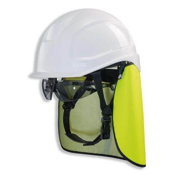 uvex Schutzhelm pheos S-KR IES Nackenschutz + Schutzbrille mit BG Bau Förderung 4