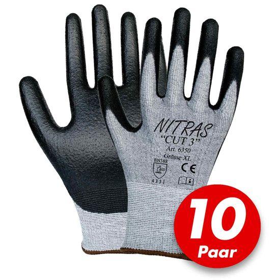 NITRAS CUT 3 Schnittschutzhandschuhe 6350 - 10 Paar