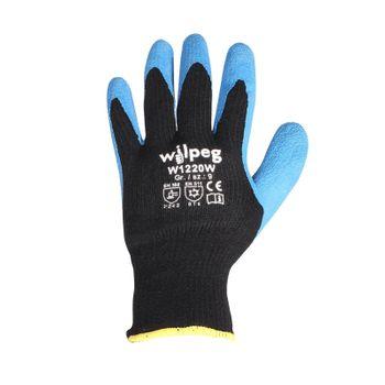 WILPEG Kälteschutz Strickhandschuhe Latex W1220W - 12 Paar 2
