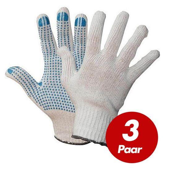 WILPEG Polyester Strickhandschuhe KORL mit PVC Noppen VPE 3 Paar