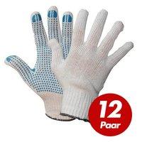 Polyester Strickhandschuhe KORL mit PVC Noppen VPE 12 Paar