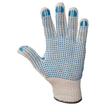WILPEG Polyester Strickhandschuhe KORL mit PVC Noppen VPE 12 Paar 2