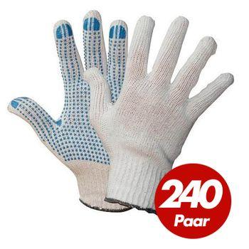 WILPEG Polyester Strickhandschuhe KORL mit PVC Noppen VPE 240 Paar 1
