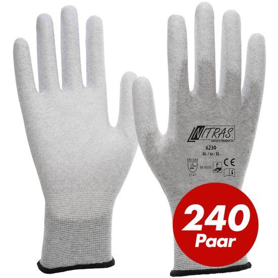 NITRAS ESD-Handschuhe 6230 antistatisch - VPE 240 Paar