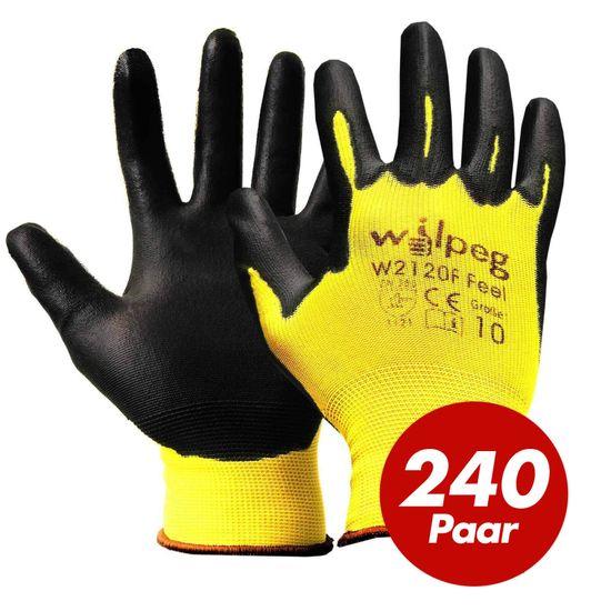 WILPEG Nylon-Strickhandschuhe PU Feel W2120F VPE 240  Paar
