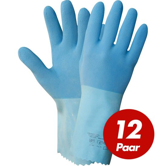 NITRAS Blue Power Grip Latexhandschuhe 1611 - 12 Paar