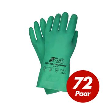 NITRAS Nitrilhandschuhe Green Barrier 3450 - VPE 72 Paar 001