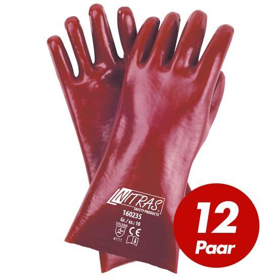 12 Paar PVC-Handschuhe 160235 vollbeschichtet