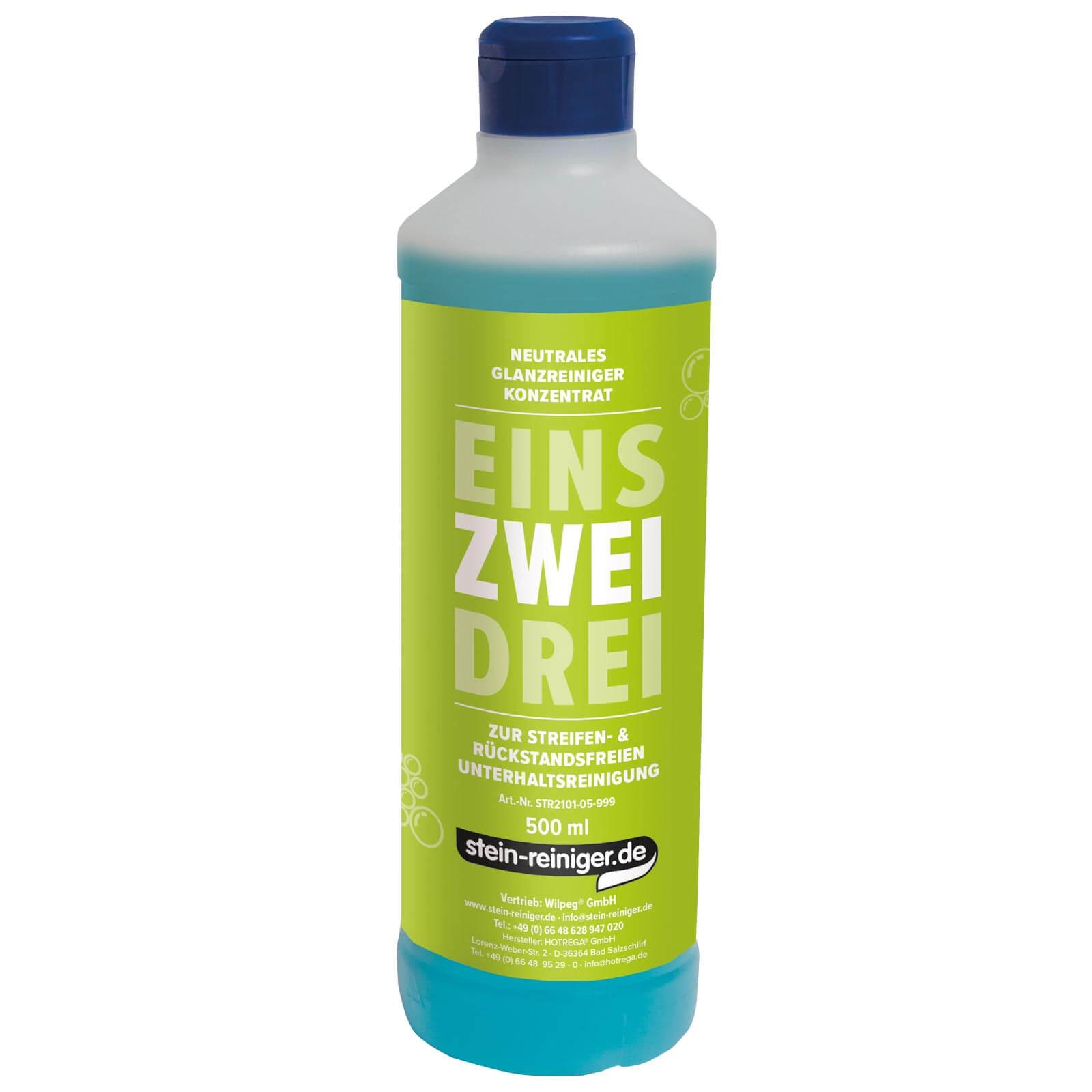 ZWEI - Neutraler Reiniger 500 ml Konzentrat entfernt alltäglichen Schmutz auf Böden aller Art, Glas, Fliesen uvm.