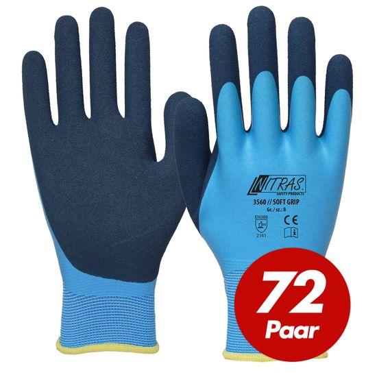 NITRAS 72 Paar Soft Grip Polyesterhandschuhe 3560
