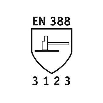 NITRAS 12 Paar Rindvolllederhandschuhe Bioworker 1403BV 2