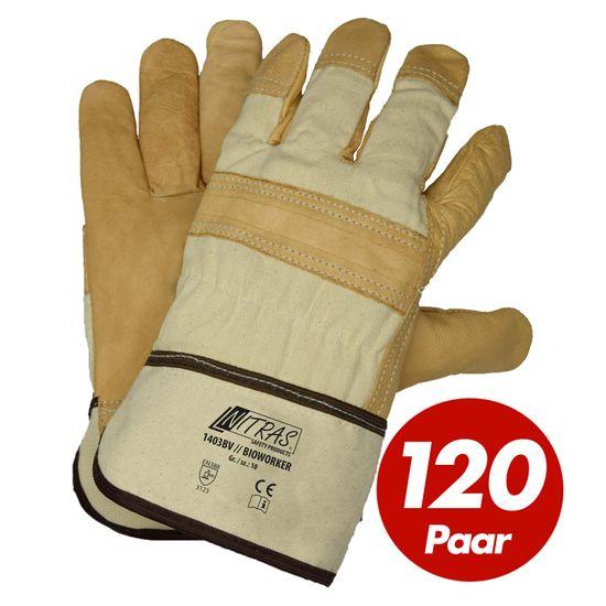 120 Paar Rindvolllederhandschuhe Bioworker 1403BV
