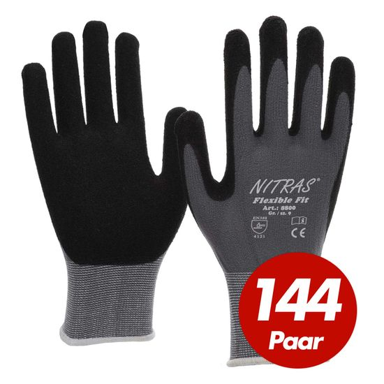 NITRAS 144 Paar Flexible Fit Allroundhandschuhe 8800