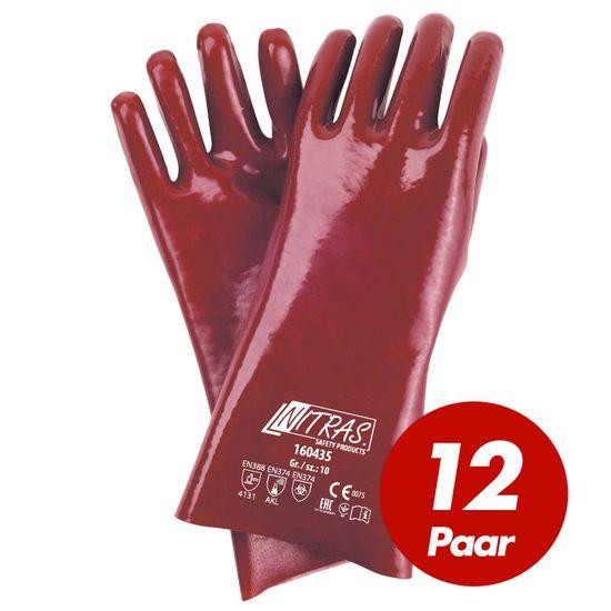 NITRAS 12 Paar PVC-Handschuhe 160435 vollbeschichtet