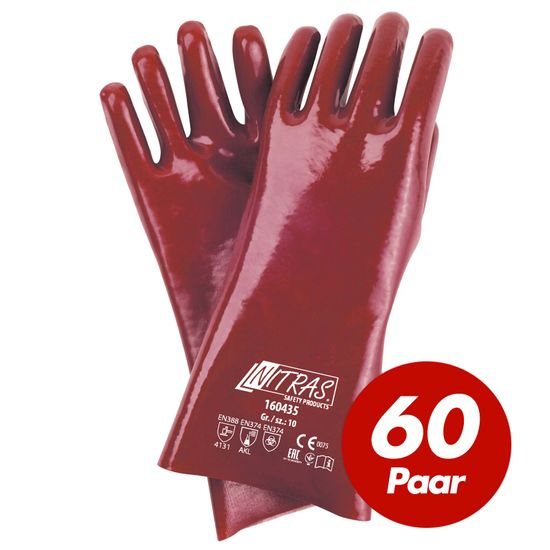 NITRAS 60 Paar PVC-Handschuhe 160435 vollbeschichtet