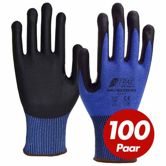 NITRAS Schnittschutzhandschuh Skin Flex 6640 CUT 5 - VPE 100 Paar