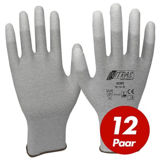 NITRAS ESD-Handschuhe 6230T - VPE 12 Paar