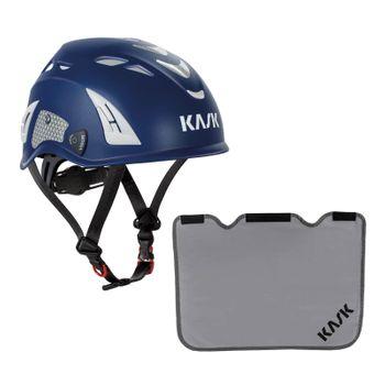 KASK Schutzhelm Plasma HI VIZ + Nackenschutz grau mit BG Bau Förderung 2