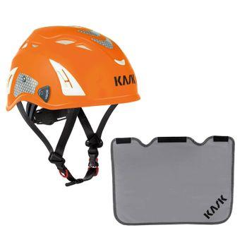 KASK Schutzhelm Plasma HI VIZ + Nackenschutz grau mit BG Bau Förderung 5