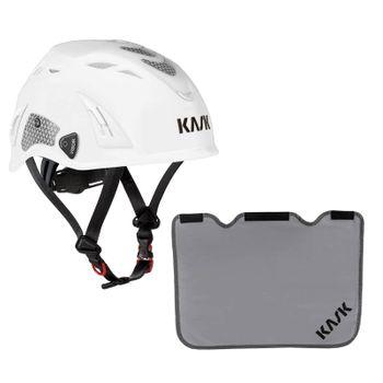 KASK Schutzhelm Plasma HI VIZ + Nackenschutz grau mit BG Bau Förderung 8