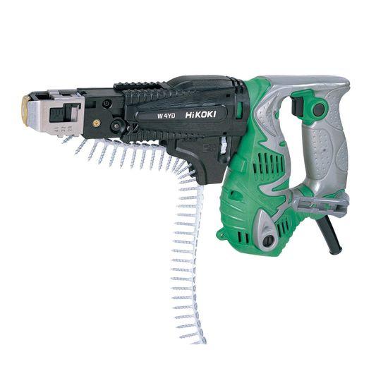 Hikoki Automatik-Streifenschrauber W4YD, Trockenbauschrauber 1/4 Zoll Aufnahme, 25-41 mm Schrauben - 470 Watt